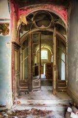 Foto op Plexiglas Marokko Interior of an abandoned mansion