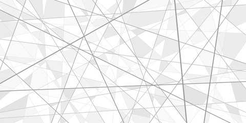 Abstract vector background, more lines and triangular fragments, geometry illustration, white technology wallpaper
