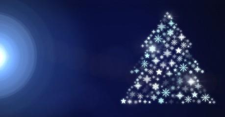 Snowflake Christmas tree pattern shape