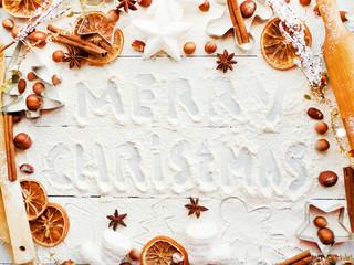 Christmas baking background
