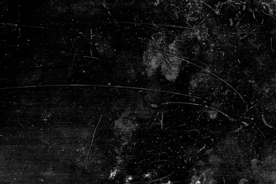 Grunge and scratch on black metal plate background