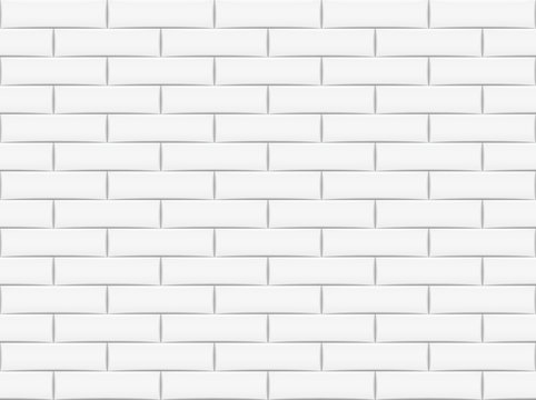 Ceramic brick tile wall. Vector illustration. Eps 10