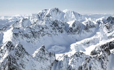 Zelfklevend Fotobehang Bergen Beautiful snowy hills in High Tatras mountains, Slovakia