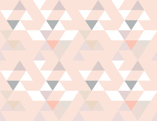 Abstract seamless geometric background vector wallpaper colorful repeat scandinavian design