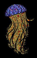 Mosaic image of jellyfish
