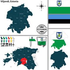 Map of Viljandi, Estonia