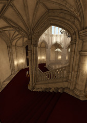 3D Rendering Fairy Tale Castle