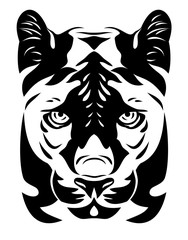 Stylized portrait of a panther