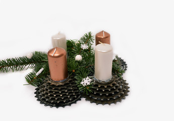 Bicycle advent wreath