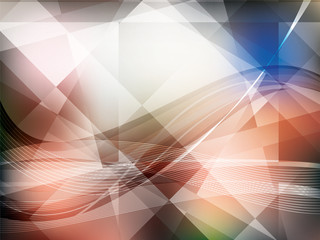 Background with geometrical shapes in vector.