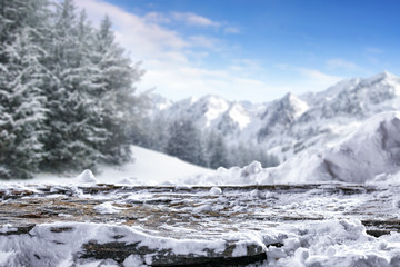 winter time and background of free space