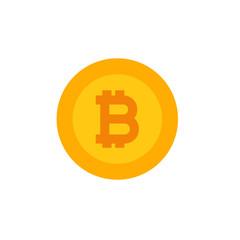 Bitcoin logo icon, virtual money, crypto currency