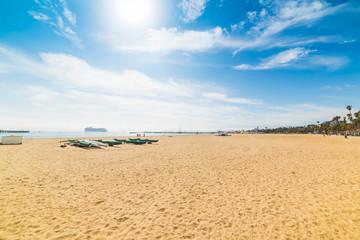 Sun shining over Santa Barbara shore