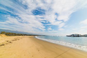 Cloudy sky over Santa Barbara shore