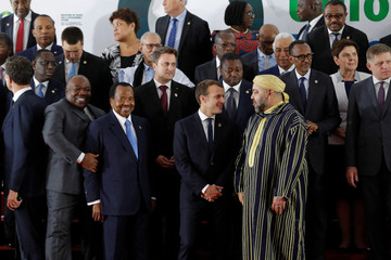 Leaders gather for the family photo at the 5th African Union - European Union (AU-EU) summit in Abidjan