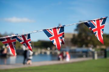UK Union Jack flag bunting  Fototapete