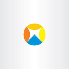 geometric circle letter m symbol logo element