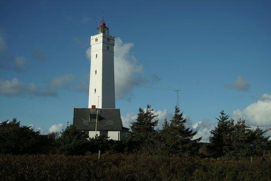 ..............Dänemark, Nordsee, Leuchtturm, Herbst/Winter