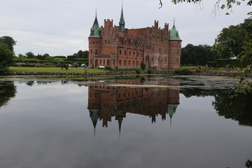 Egeskov Castle with reflection
