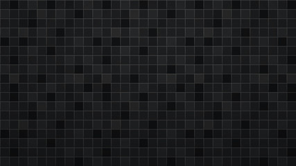 Obraz Abstract background of tiles in black colors - fototapety do salonu