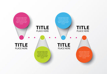 Text Circles with Mesh Grating Infographic