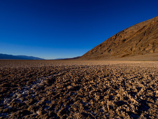 The amazing landscape of Death Valley National Park Badwater salt lake