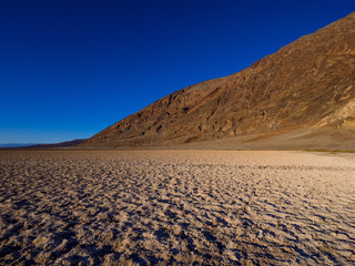 Awesome Badwater salt lake at Death Valley National Park California