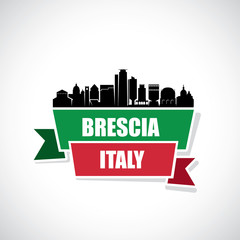 Wall Mural - Brescia skyline - Italy