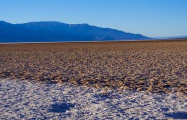 Badwater Salt lake at Death Valley California