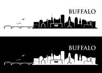 Fototapete - Buffalo skyline - New York