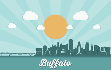 Buffalo skyline - New York