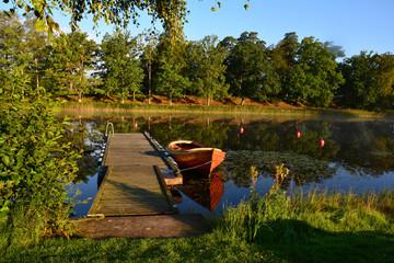 Toftaholm Herrgard Hotel, Lake Vidostern, Toftaholm, Sweden.