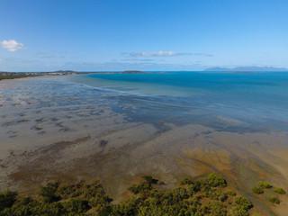 Luftbild mit Inselblick aufs Meer - Teil 2