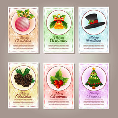 six christmas card