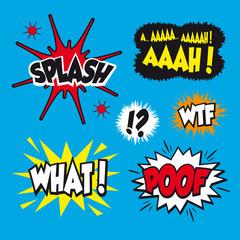 Comic strip graphic novel speech effect elements