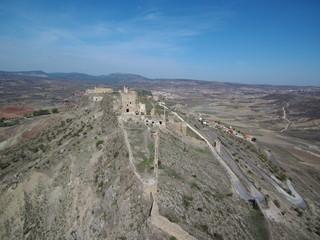 Drone en Villa de Moya, Cuenca, pueblo historico en Castilla la Mancha ( España) Fotografia aerea con drone