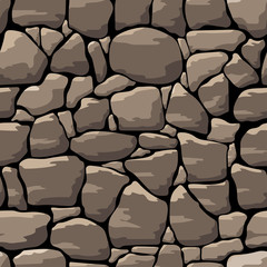 Abstract vector stone wall. Seamless pattern