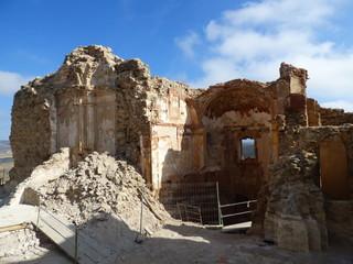 Villa de  Moya en Cuenca. Pueblo abandonado en Castilla la Mancha, España