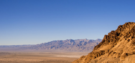 The colourful Death Valley National Park at sunset