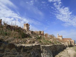Castillo de Moya, Cuenca. Pueblo historico en Castilla la Mancha (España)