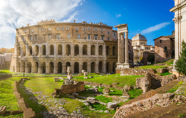 Theatre of Marcellus in Rome, Italy.