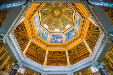 The dome of the Lateran Baptistery (San Giovanni in Fonte) near the Basilica of Saint John in Rome, italy.
