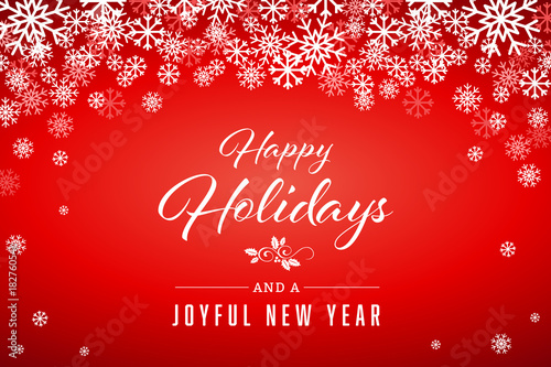 happy holidays and new year greetings