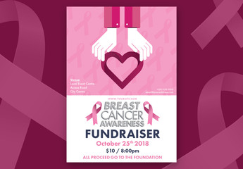 Breast Cancer Awareness Poster Layout 05