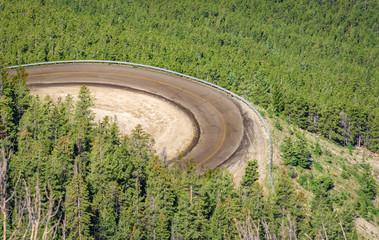 Beartooth Scenic Curvy Highway. Montana, Wyoming. USA.