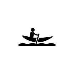 Man in boat with paddle icon