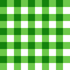Seamless pattern from green and white cells. Stylish wallpaper of green and white cells. For design, textiles, packaging and printing. Vector.