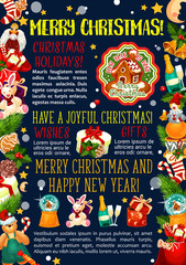 Christmas greeting card vector New Year gifts