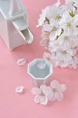 日本酒 桜の花