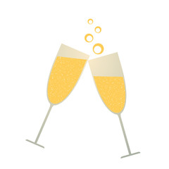 Champagne glass illustration